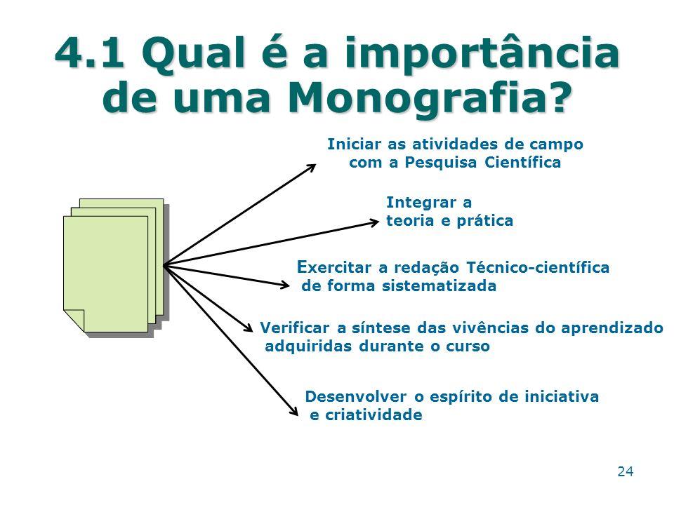 4.1 Qual é a importância de uma Monografia