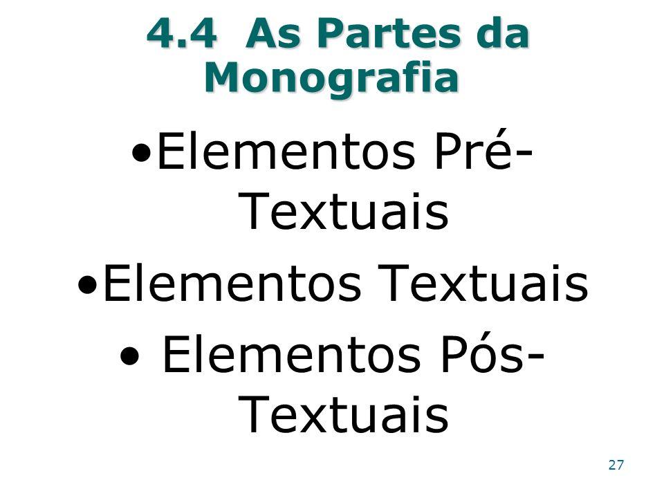 4.4 As Partes da Monografia