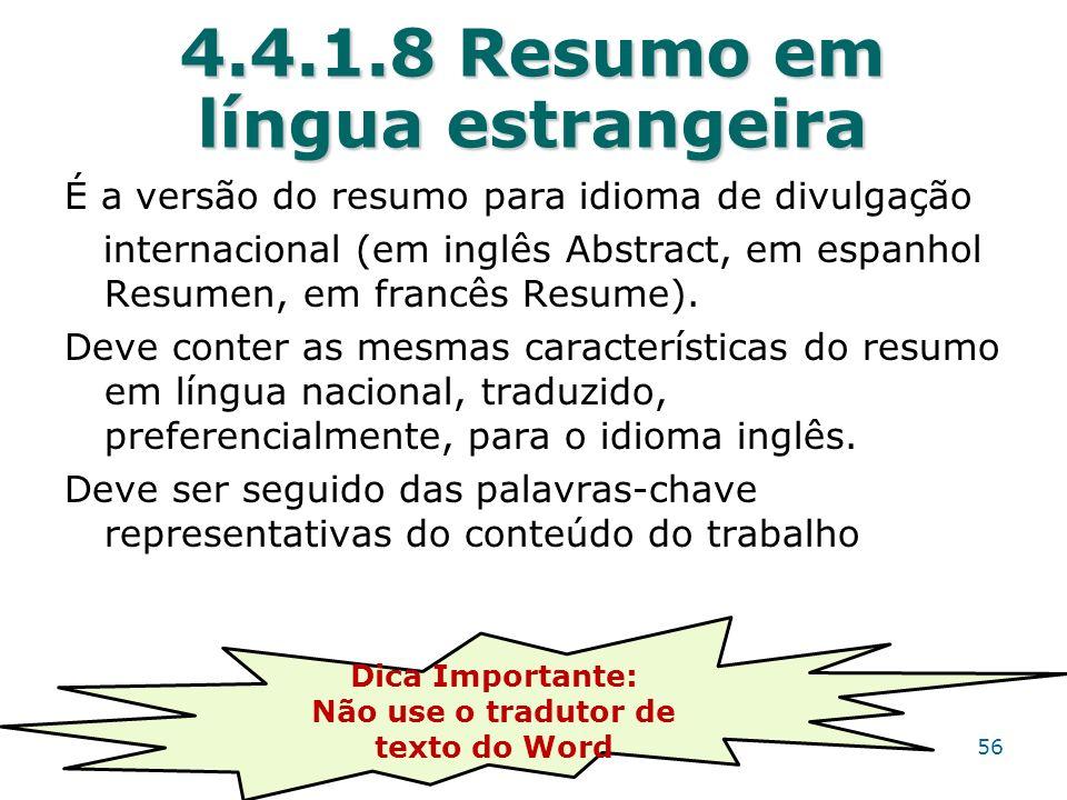 4.4.1.8 Resumo em língua estrangeira