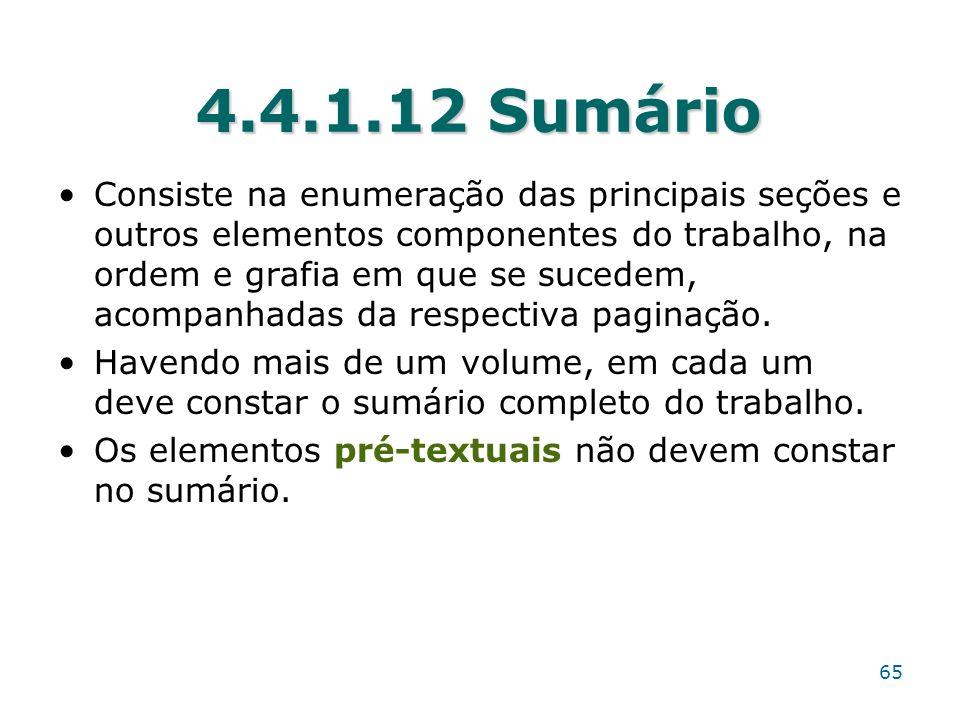 4.4.1.12 Sumário