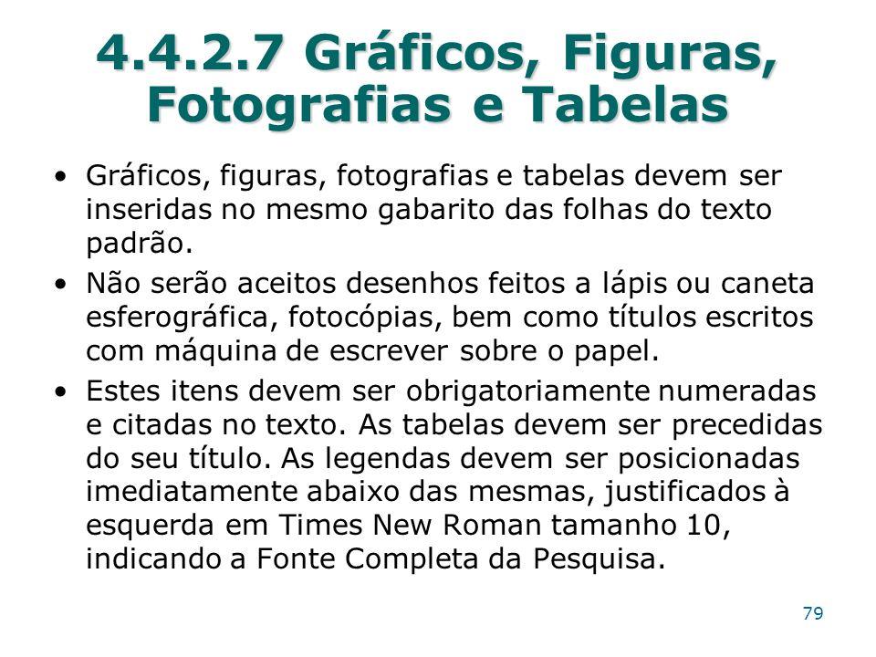 4.4.2.7 Gráficos, Figuras, Fotografias e Tabelas
