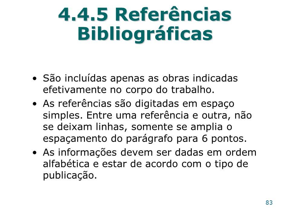 4.4.5 Referências Bibliográficas