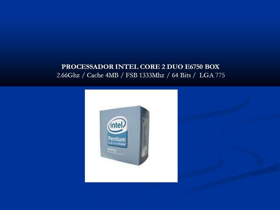 PROCESSADOR INTEL CORE 2 DUO E6750 BOX