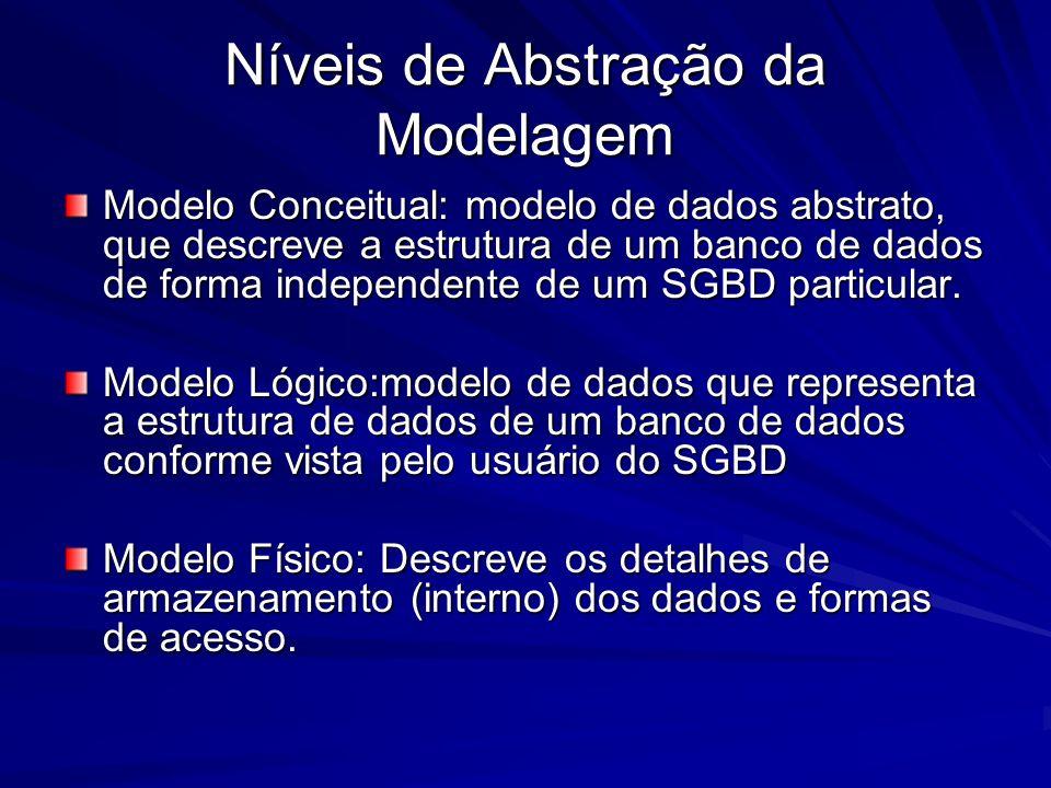 Níveis de Abstração da Modelagem