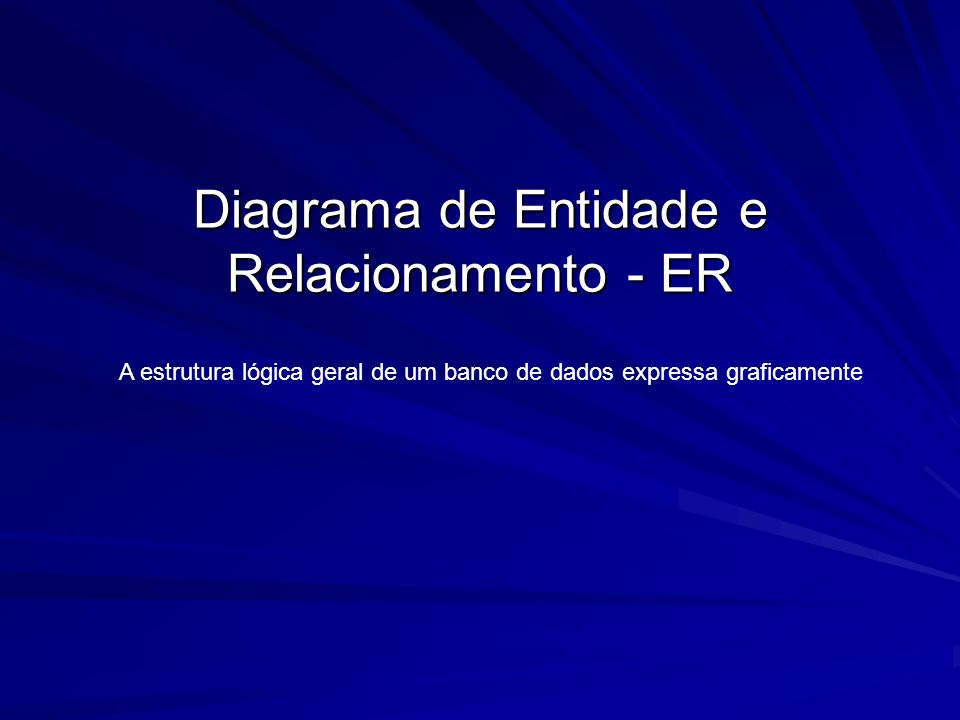 Diagrama de Entidade e Relacionamento - ER