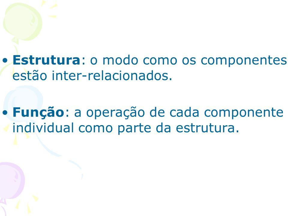 Estrutura: o modo como os componentes estão inter-relacionados.