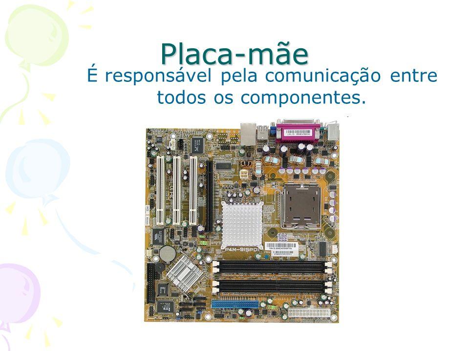 É responsável pela comunicação entre todos os componentes.