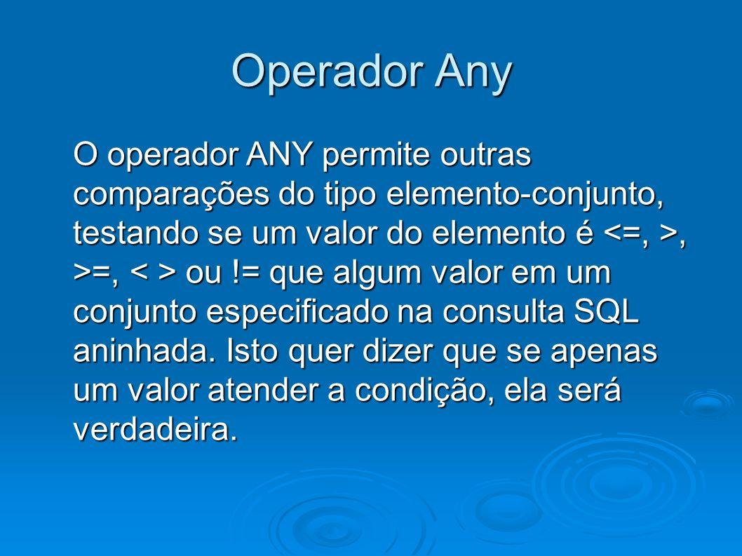Operador Any