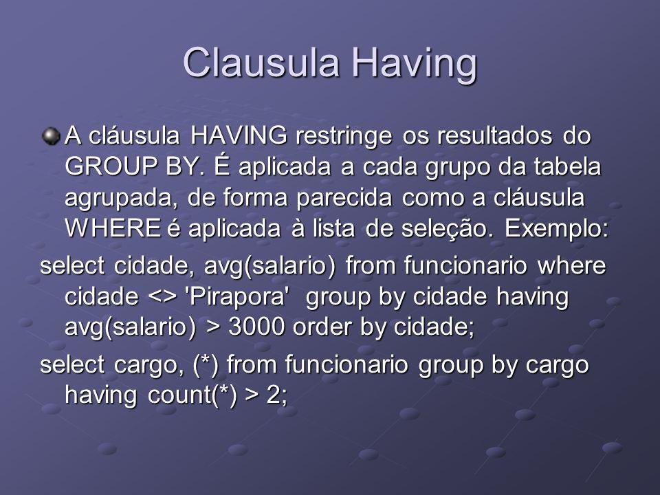 Clausula Having