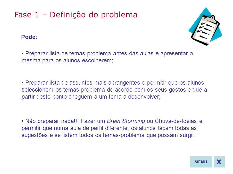 Fase 1 – Definição do problema