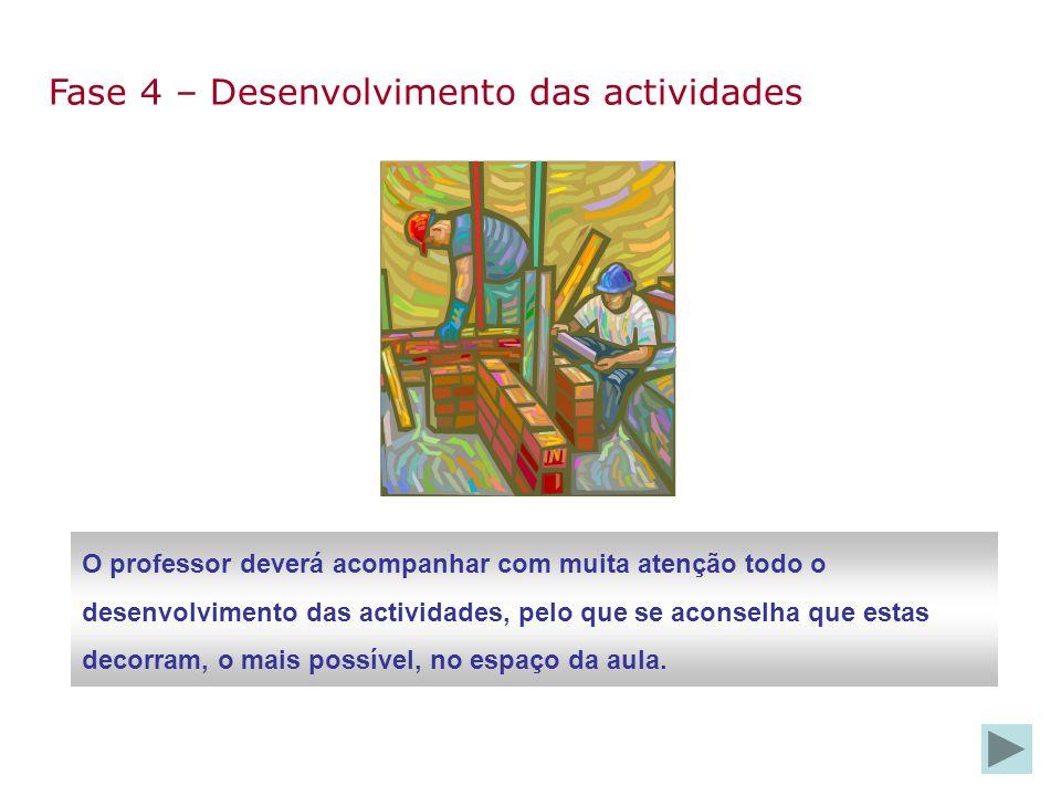 Fase 4 – Desenvolvimento das actividades