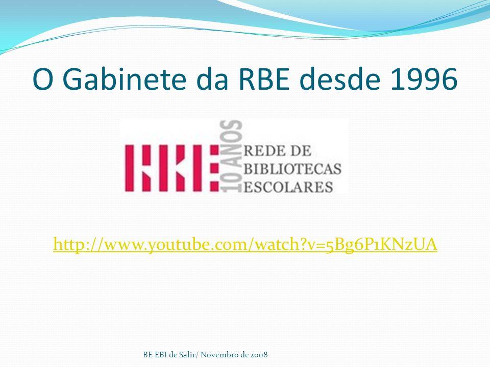 O Gabinete da RBE desde 1996 http://www.youtube.com/watch v=5Bg6P1KNzUA.