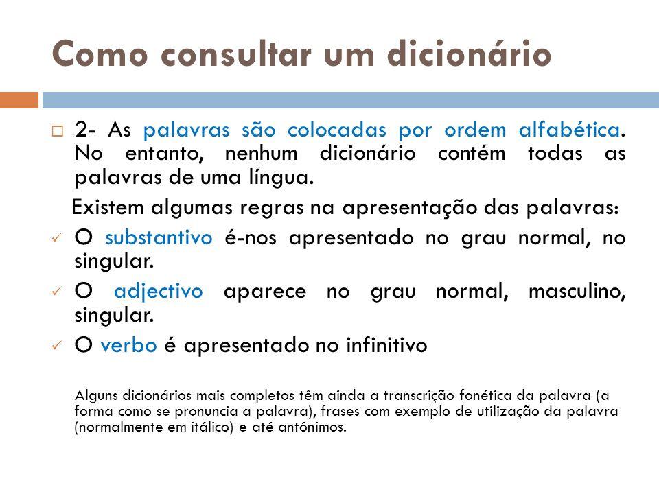 Como consultar um dicionário