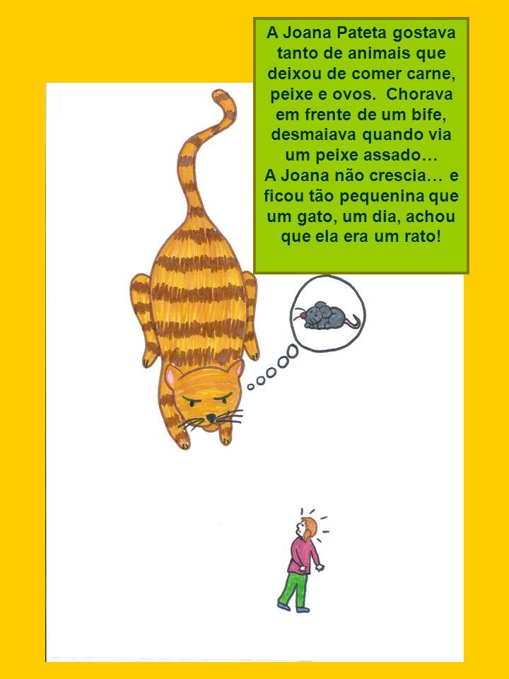 A Joana Pateta gostava tanto de animais que deixou de comer carne, peixe e ovos. Chorava em frente de um bife, desmaiava quando via um peixe assado…