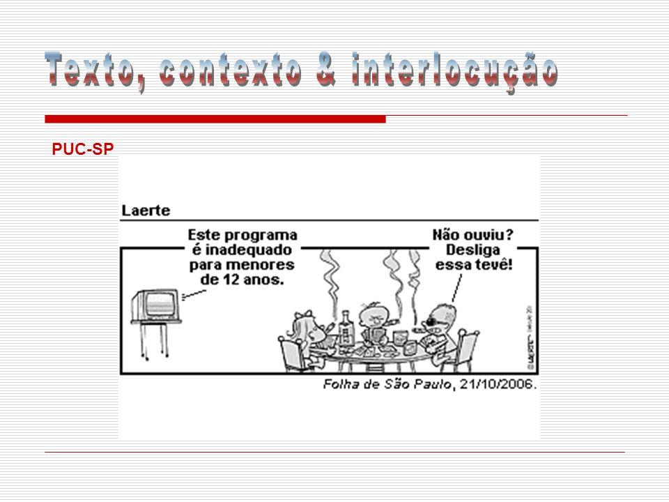 Texto, contexto & interlocução