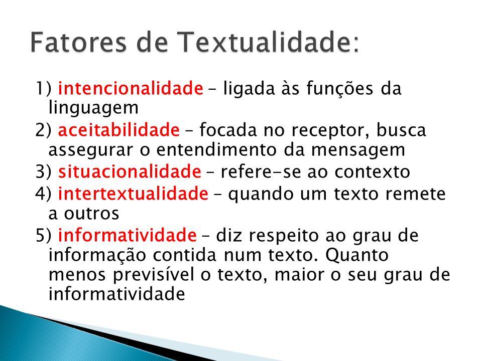 Fatores de Textualidade: