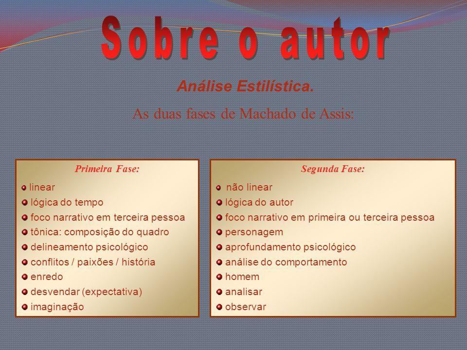 As duas fases de Machado de Assis: