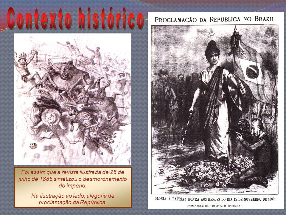 Na ilustração ao lado, alegoria da proclamação da República.