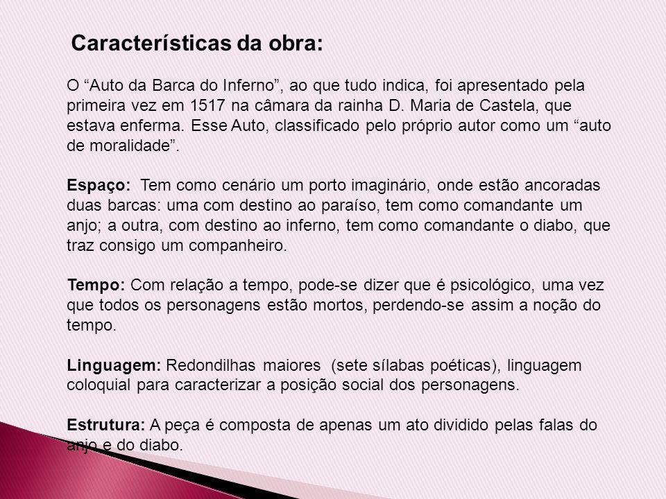 Características da obra: