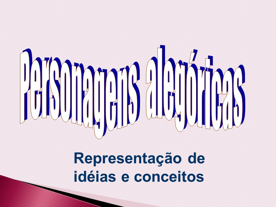 Personagens alegóricas