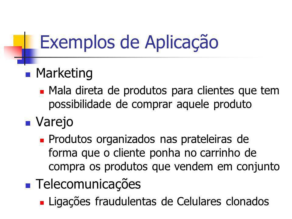 Exemplos de Aplicação Marketing Varejo Telecomunicações
