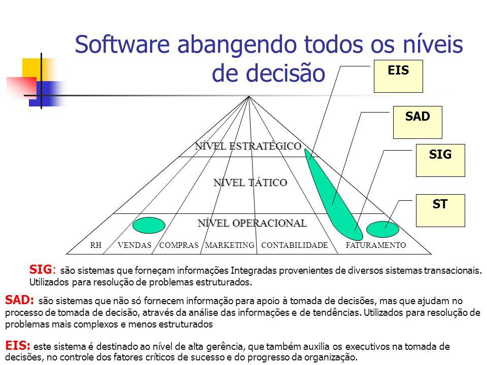 Software abangendo todos os níveis de decisão