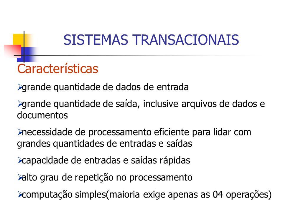 SISTEMAS TRANSACIONAIS