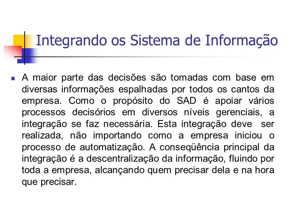 Integrando os Sistema de Informação
