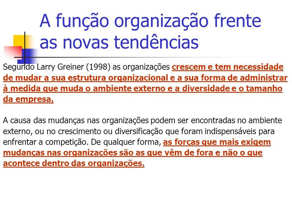 A função organização frente as novas tendências