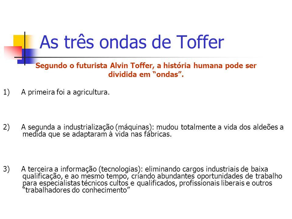 Segundo o futurista Alvin Toffer, a história humana pode ser