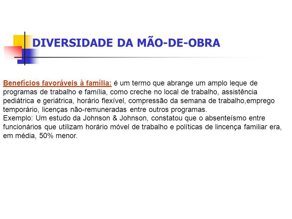 DIVERSIDADE DA MÃO-DE-OBRA