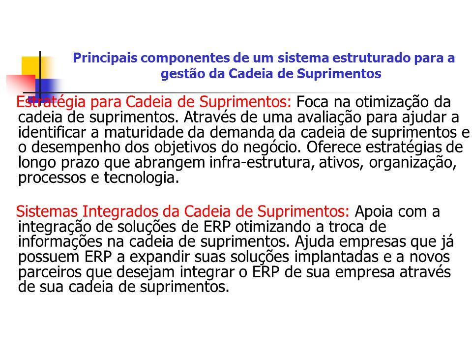 Principais componentes de um sistema estruturado para a gestão da Cadeia de Suprimentos