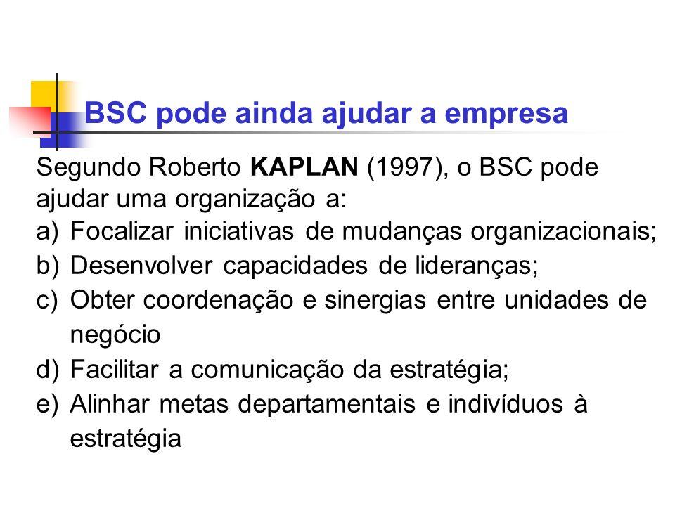 BSC pode ainda ajudar a empresa