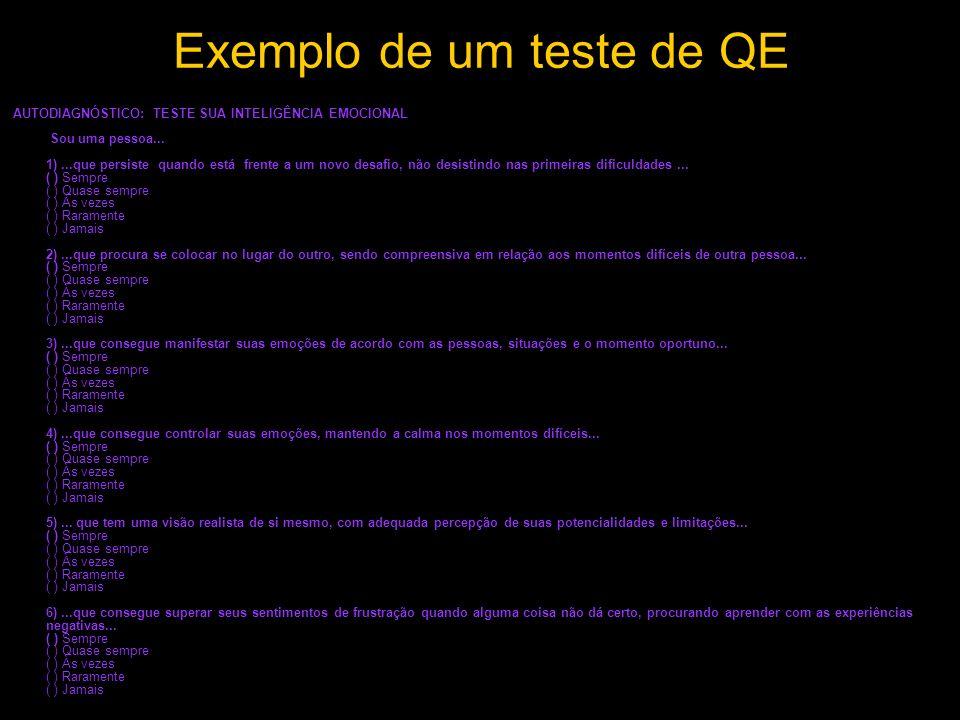 Exemplo de um teste de QE