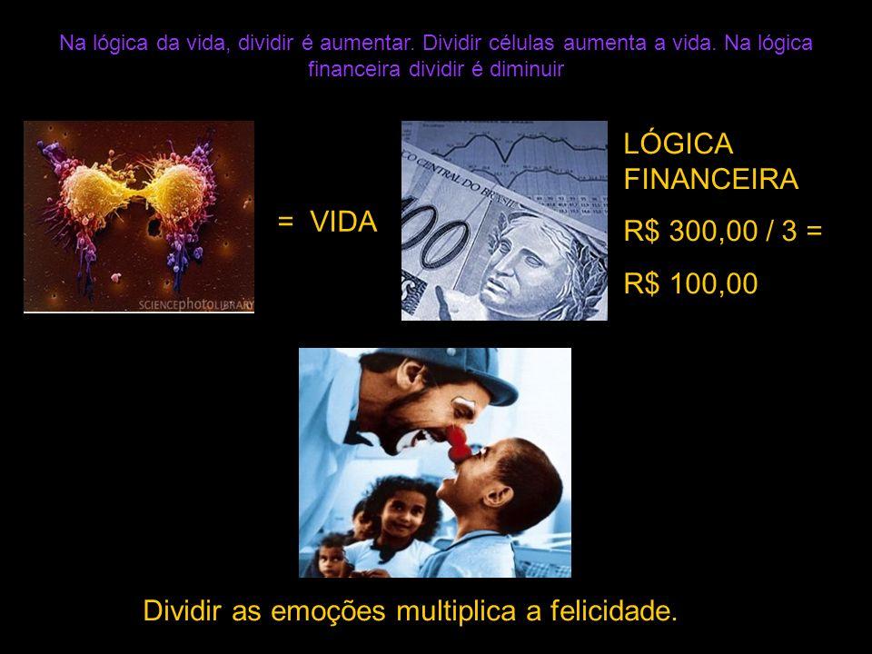= VIDA LÓGICA FINANCEIRA R$ 300,00 / 3 = R$ 100,00