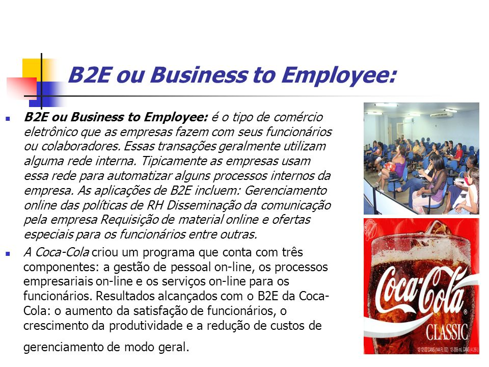 B2E ou Business to Employee: