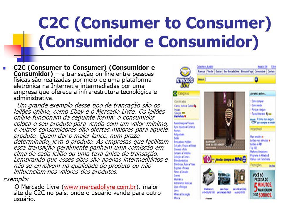 C2C (Consumer to Consumer) (Consumidor e Consumidor)