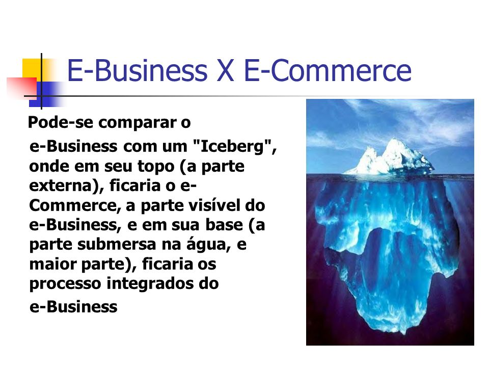 E-Business X E-Commerce