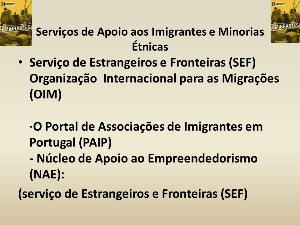 Serviços de Apoio aos Imigrantes e Minorias Étnicas