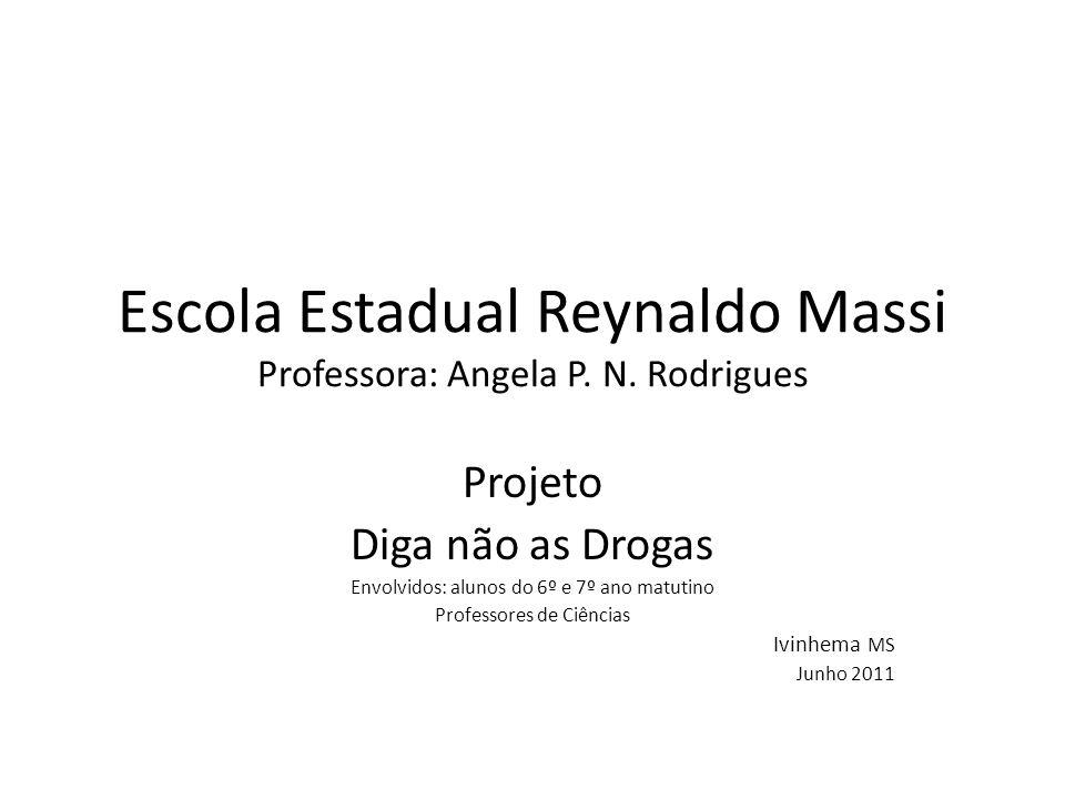 Escola Estadual Reynaldo Massi Professora: Angela P. N. Rodrigues