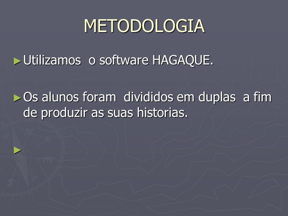 METODOLOGIA Utilizamos o software HAGAQUE.