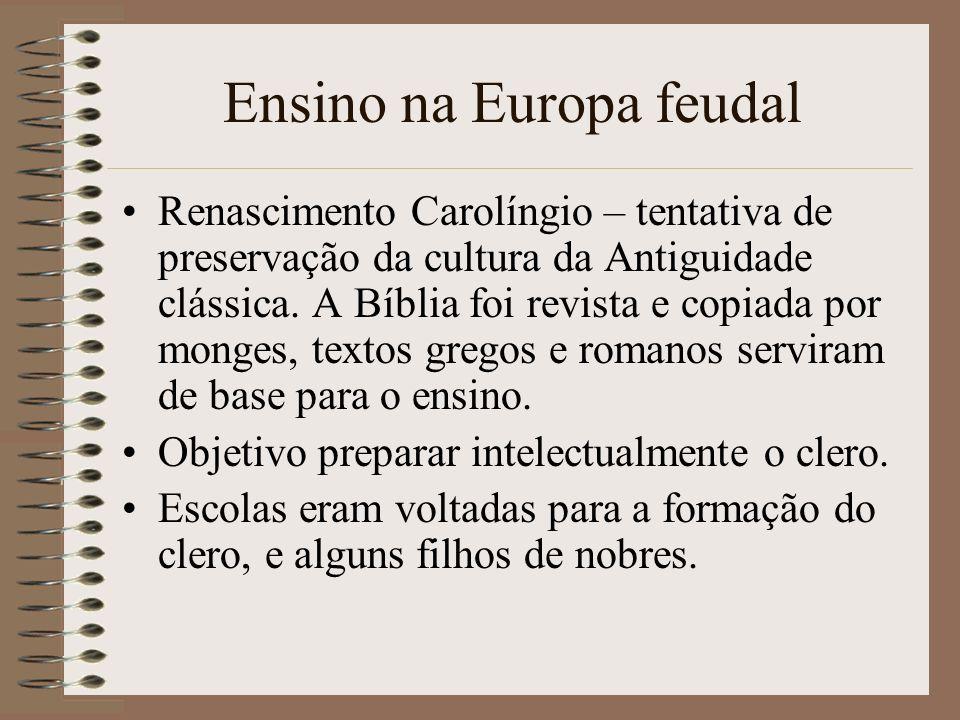 Ensino na Europa feudal