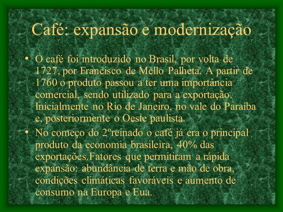 Café: expansão e modernização
