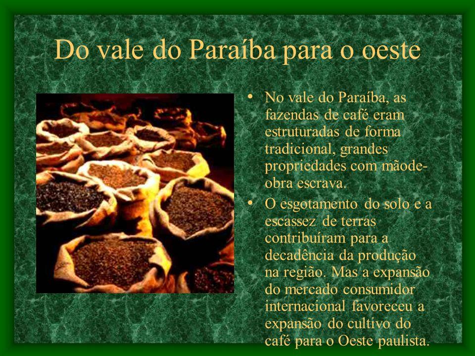 Do vale do Paraíba para o oeste