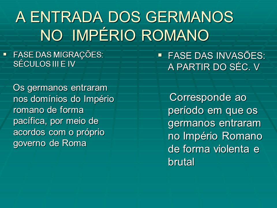 A ENTRADA DOS GERMANOS NO IMPÉRIO ROMANO