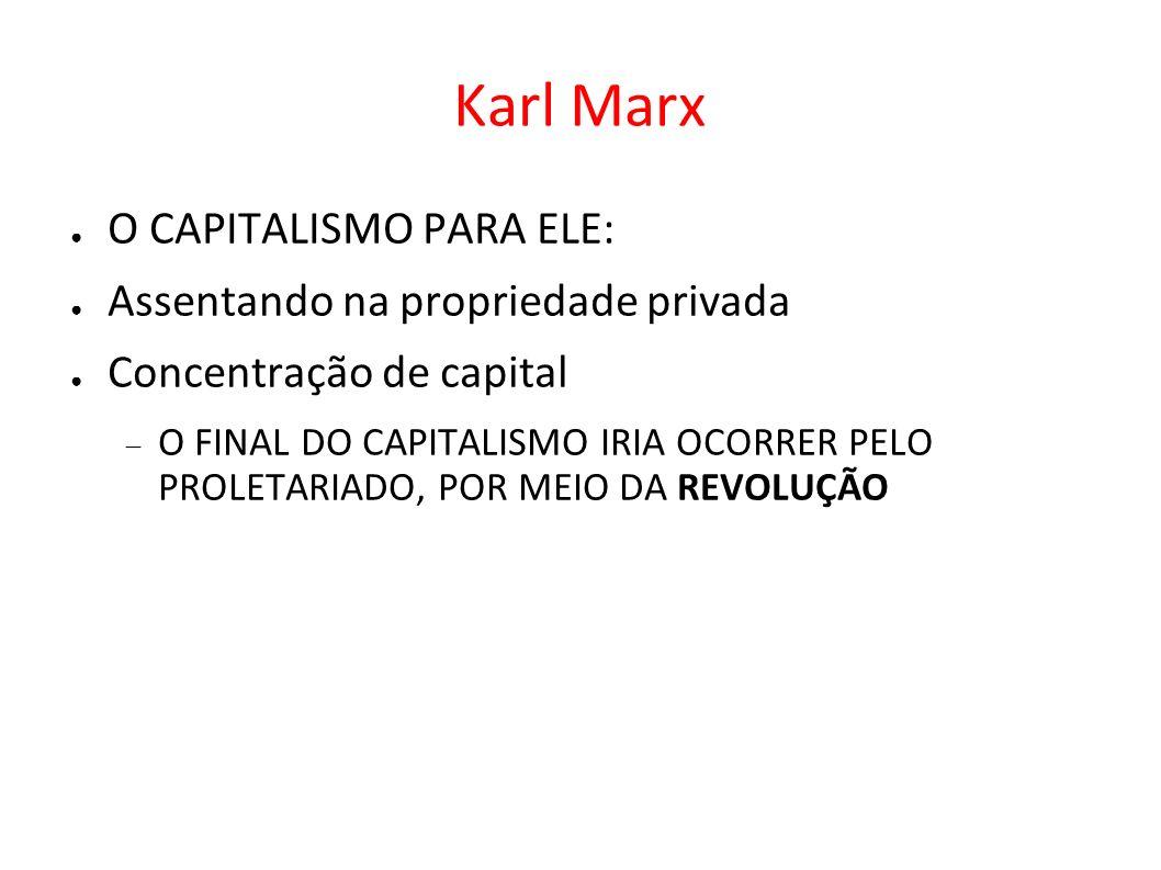 Karl Marx O CAPITALISMO PARA ELE: Assentando na propriedade privada
