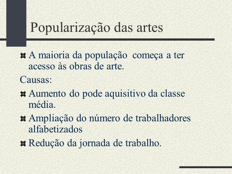 Popularização das artes