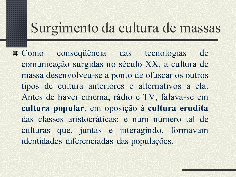 Surgimento da cultura de massas