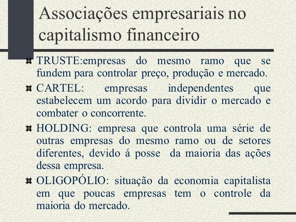 Associações empresariais no capitalismo financeiro