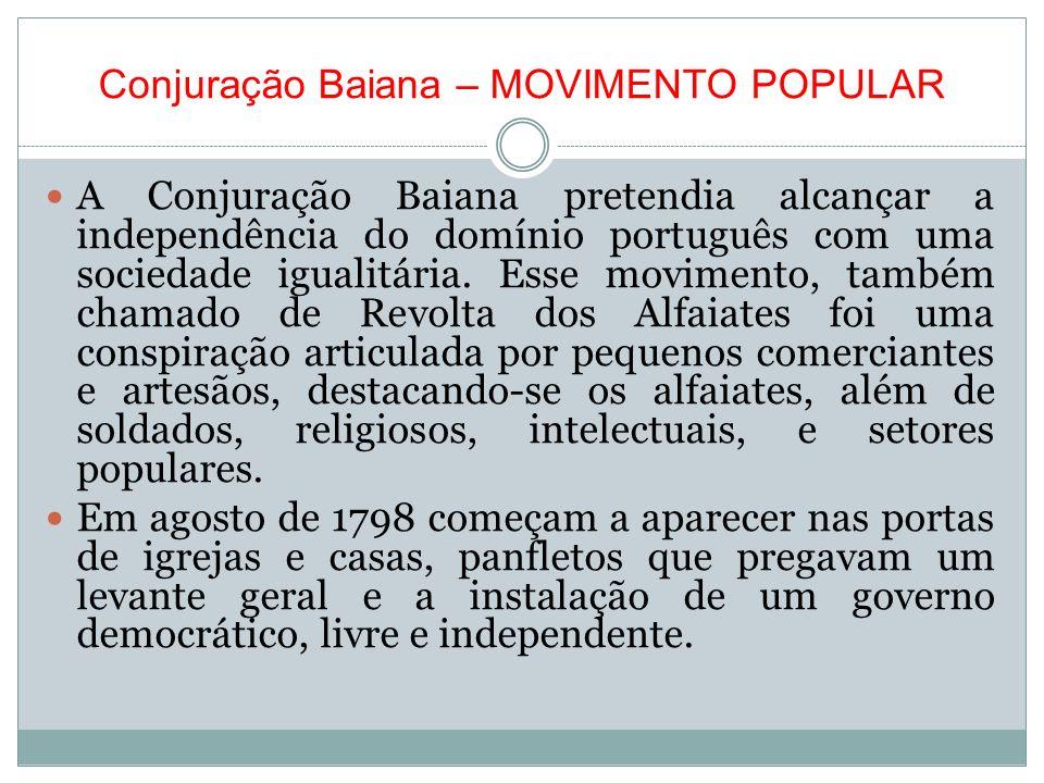 Conjuração Baiana – MOVIMENTO POPULAR
